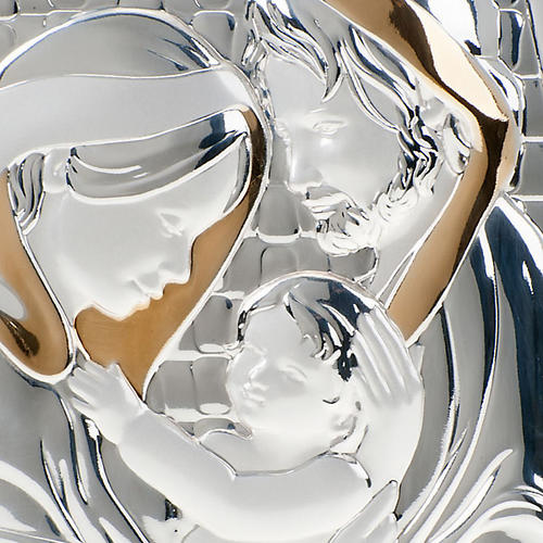 Bassorilievo bilaminato oro argento Sacra Famiglia 3