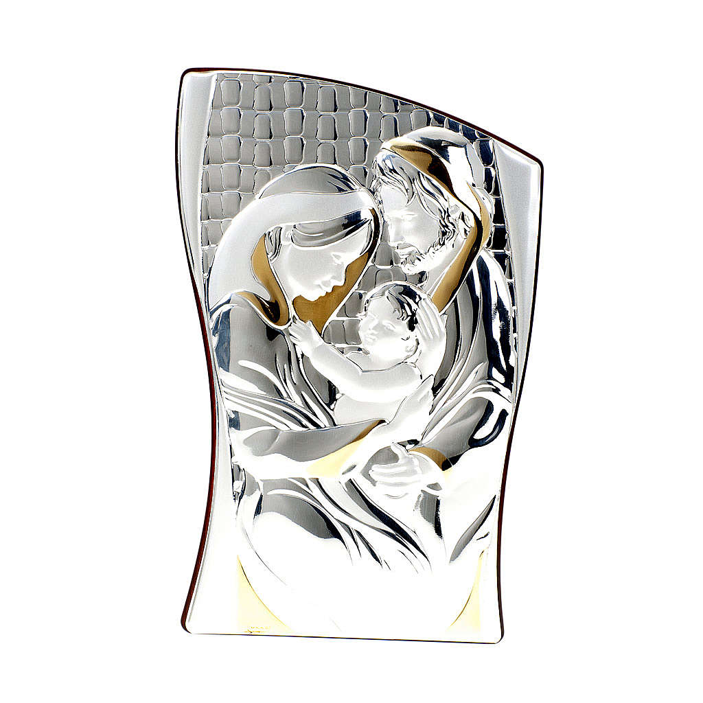 Silver/Gold Bas Relief Holy Family 4
