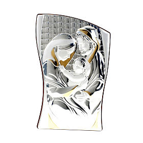 Silver/Gold Bas Relief Holy Family s1