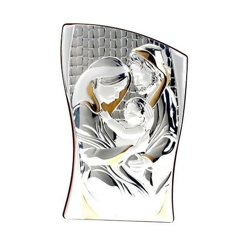 Silver/Gold Bas Relief Holy Family 1