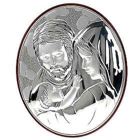 Bassorilievo bilaminato Sacra Famiglia ovale s1