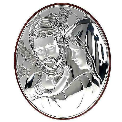 Bassorilievo bilaminato Sacra Famiglia ovale 1