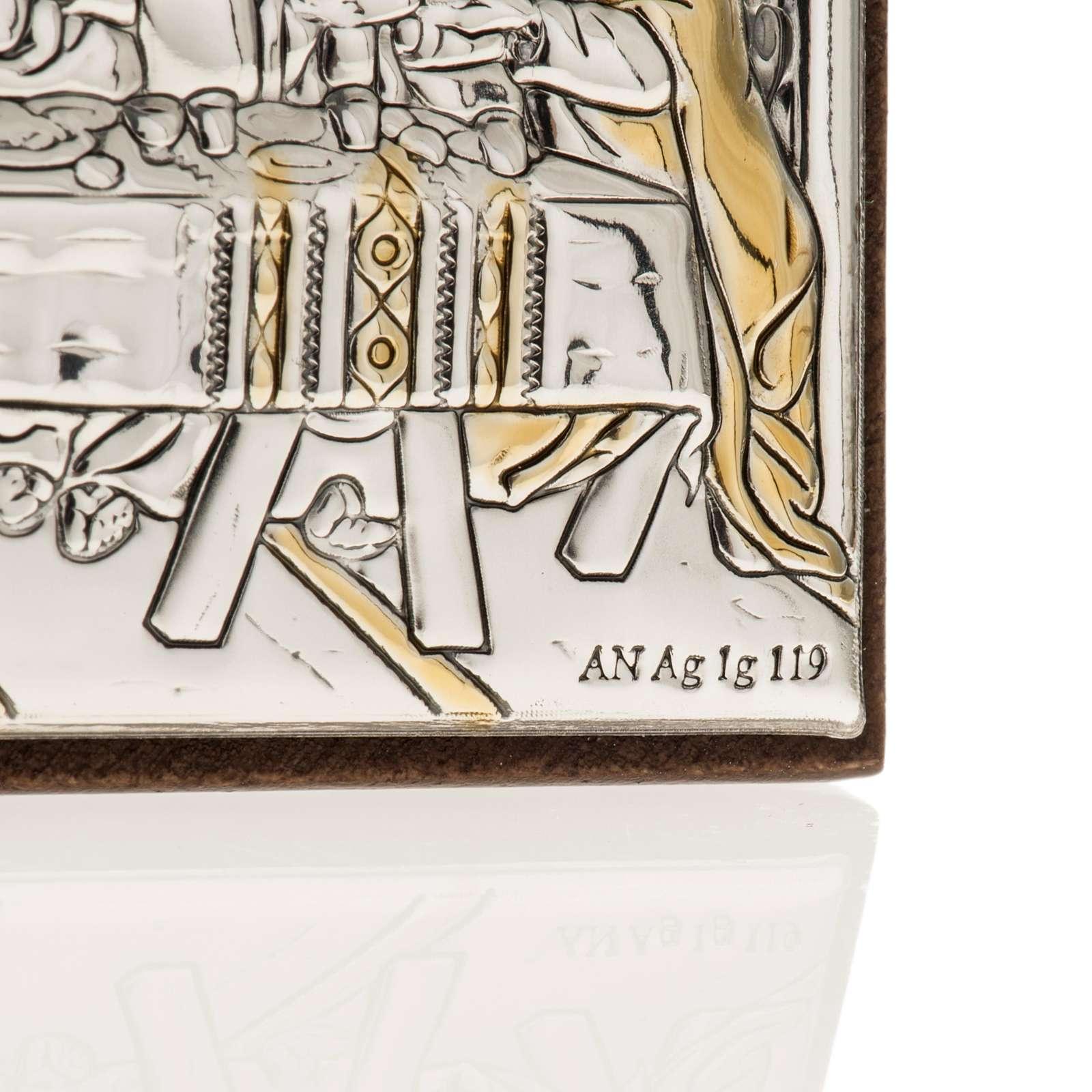 Bassorilievo bilaminato oro arg. Ultima cena Leonardo 4