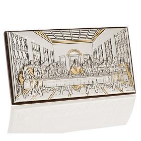 Bassorilievo bilaminato oro arg. Ultima cena Leonardo s1