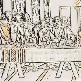 Bassorilievo bilaminato oro arg. Ultima cena Leonardo s2