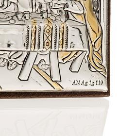 Bassorilievo bilaminato oro arg. Ultima cena Leonardo s3