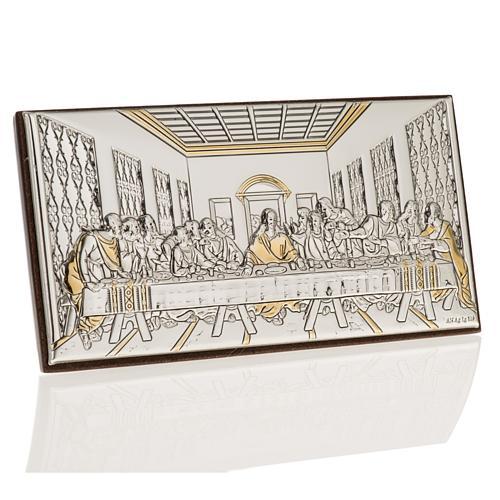 Bassorilievo bilaminato oro arg. Ultima cena Leonardo 1