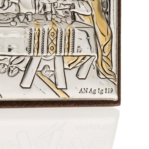 Bassorilievo bilaminato oro arg. Ultima cena Leonardo 3
