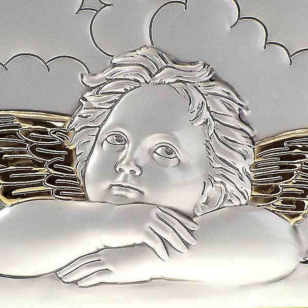 Bassorilievo bilaminato oro arg. Angeli Raffaello su nuvola 4