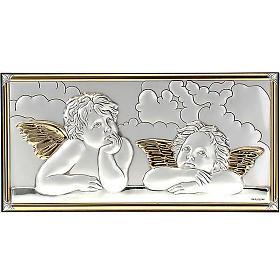 Bassorilievo bilaminato oro arg. Angeli Raffaello su nuvola s1