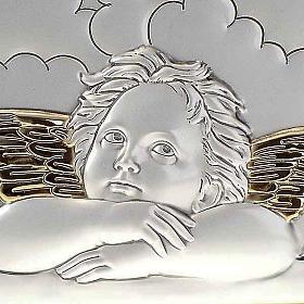 Bassorilievo bilaminato oro arg. Angeli Raffaello su nuvola s3