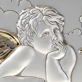 Bassorilievo bilaminato oro arg. Angeli Raffaello su nuvola s4