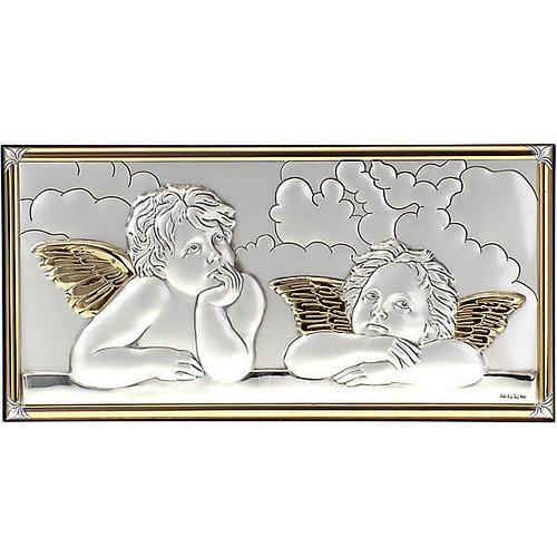 Bassorilievo bilaminato oro arg. Angeli Raffaello su nuvola 1