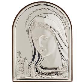 Bassorilievo bilaminato argento Madonna Medjugorje s1