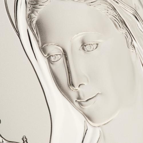 Bassorilievo bilaminato argento Madonna Medjugorje 2
