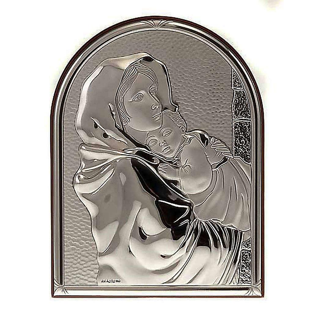 Bassorilievo bilaminato Madonna del Ferruzzi ovale base dritta 4