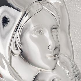 Bas relief argent vierge de Ferruzzi rectangulaire s4