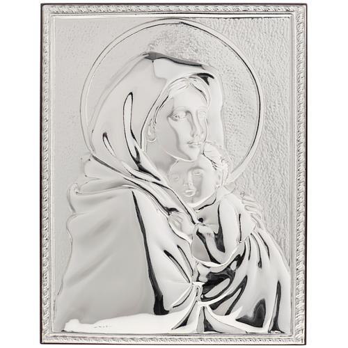 Bas relief argent vierge de Ferruzzi rectangulaire 1