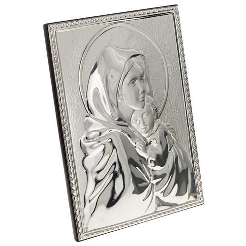 Bas relief argent vierge de Ferruzzi rectangulaire 2