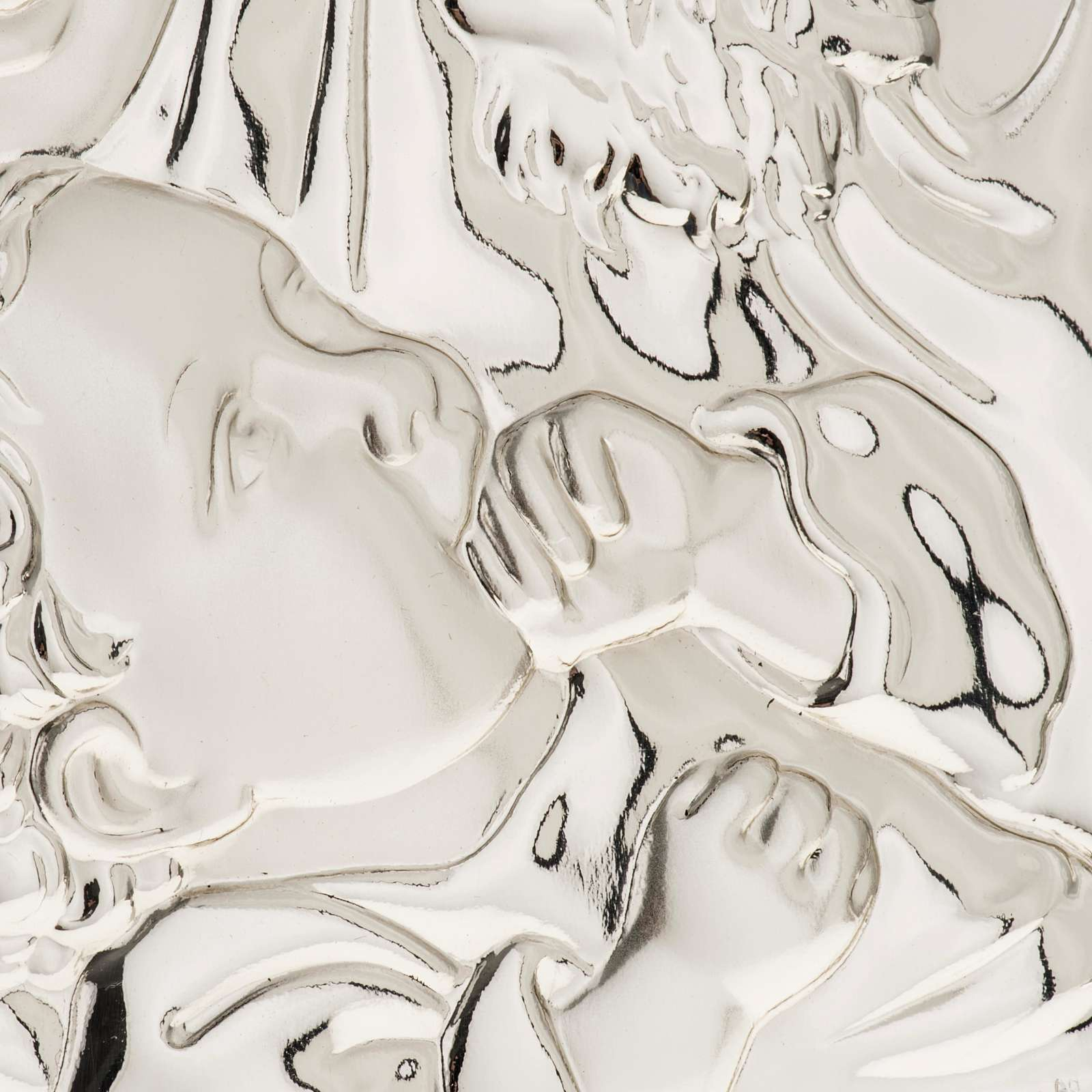 Silver Bas Relief Holy Family 4