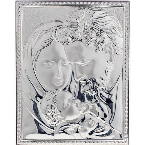 Silver Bas Relief Holy Family 1