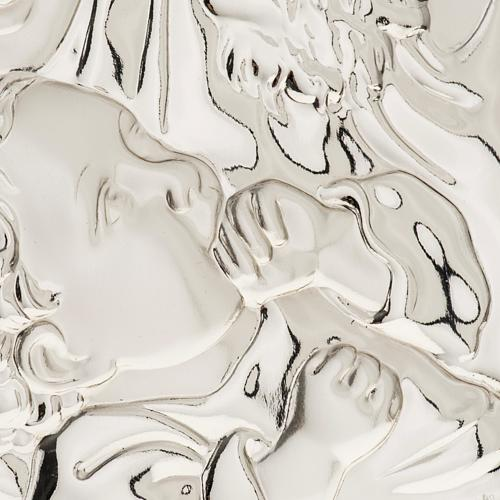 Silver Bas Relief Holy Family 2