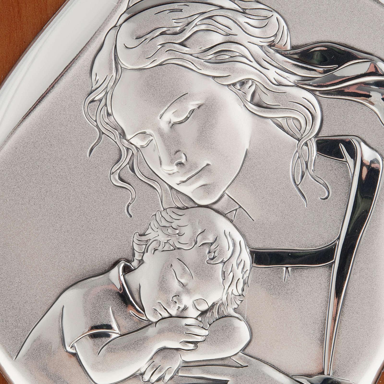 Bassorilievo bilaminato Madre con bimbo addormentato 14x11 4