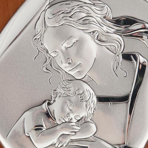 Bassorilievo bilaminato Madre con bimbo addormentato 14x11 2