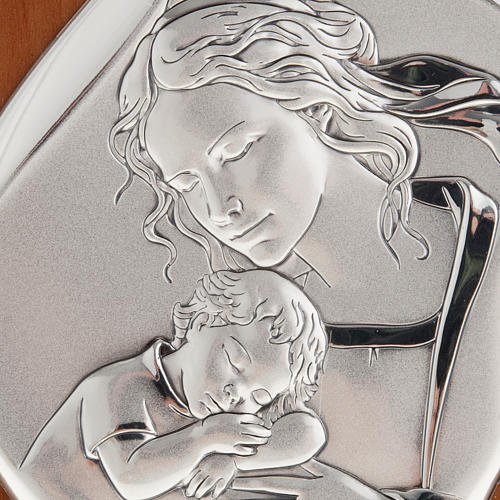 Silver Bas Relief - Mother with sleeping baby 14x11cm 2