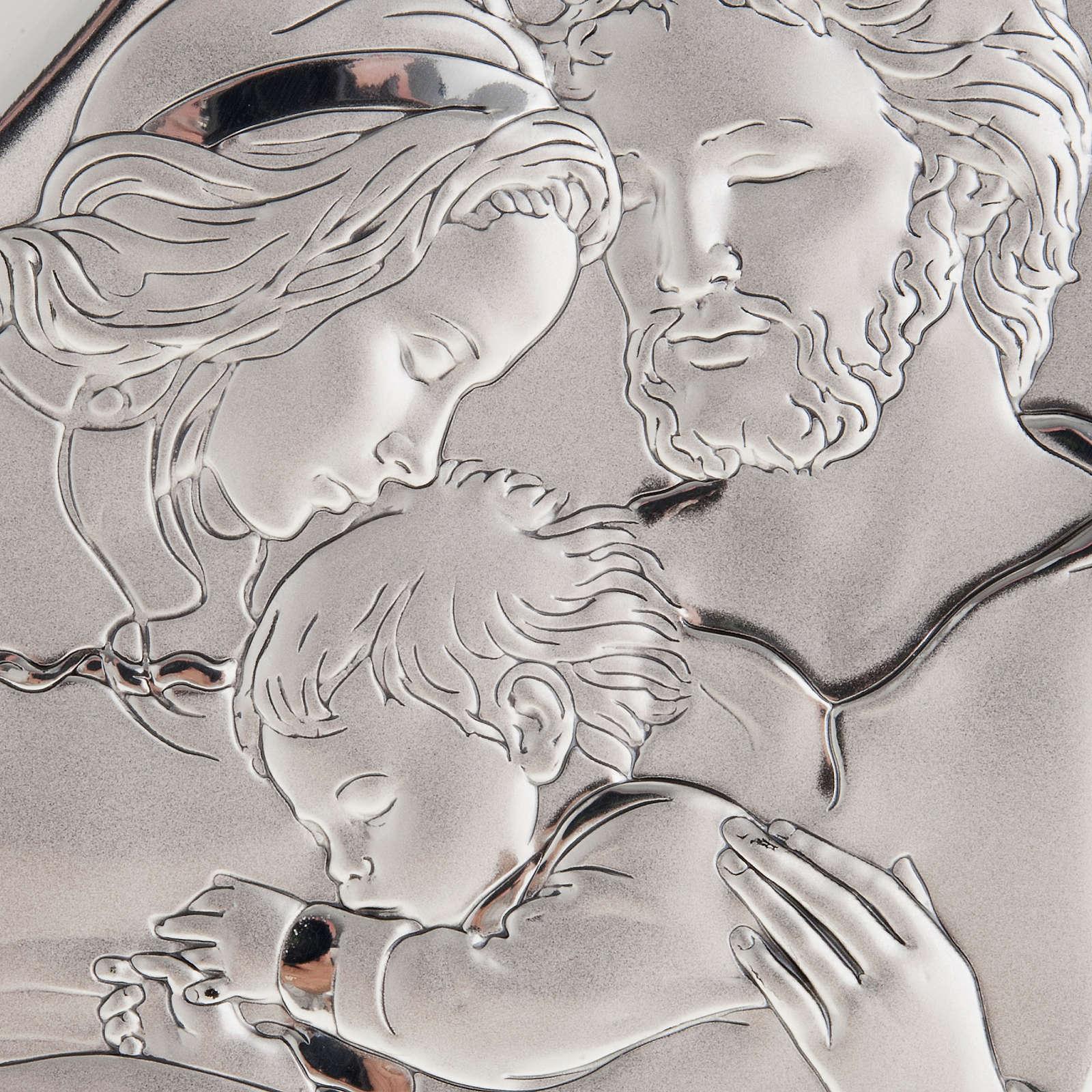 Święta Rodzina z Dzieciątkiem płaskorzeźba srebro 4