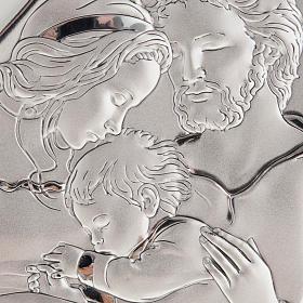 Święta Rodzina z Dzieciątkiem płaskorzeźba srebro s2