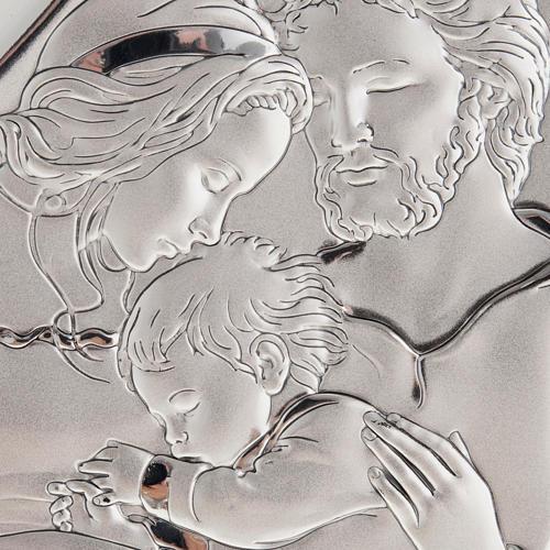 Święta Rodzina z Dzieciątkiem płaskorzeźba srebro 2