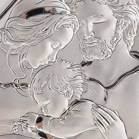 Silver Bas Relief- Holy Family with Baby Jesus s2