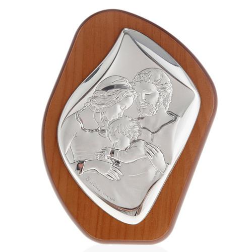 Silver Bas Relief- Holy Family with Baby Jesus 1
