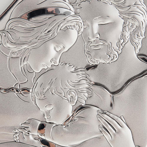 Silver Bas Relief- Holy Family with Baby Jesus 2