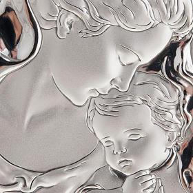 Matka z welonem i dzieciątkiem płaskorzeźba srebro s2