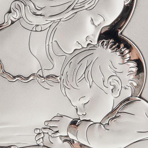 Bajorrelieve plata madre con niño dormido aureola 2