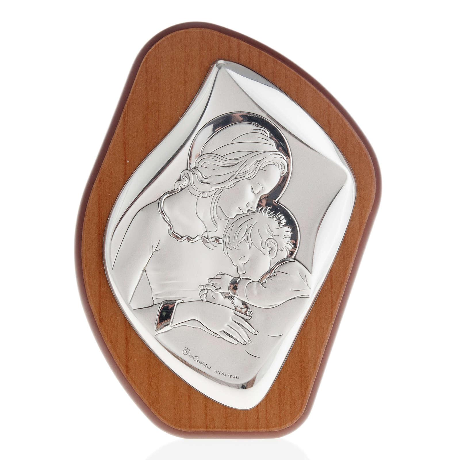Bassorilievo bilaminato Madre con bimbo addormentato  aureola 11 4