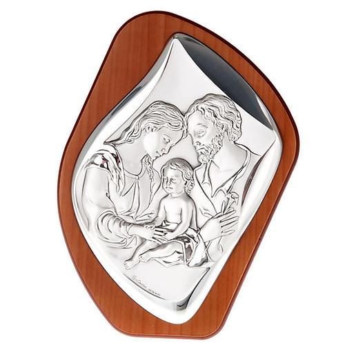 Święta Rodzina płaskorzeźba  srebro 1