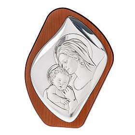 Matka z Dzieciątkiem płaskorzeźba srebro s1