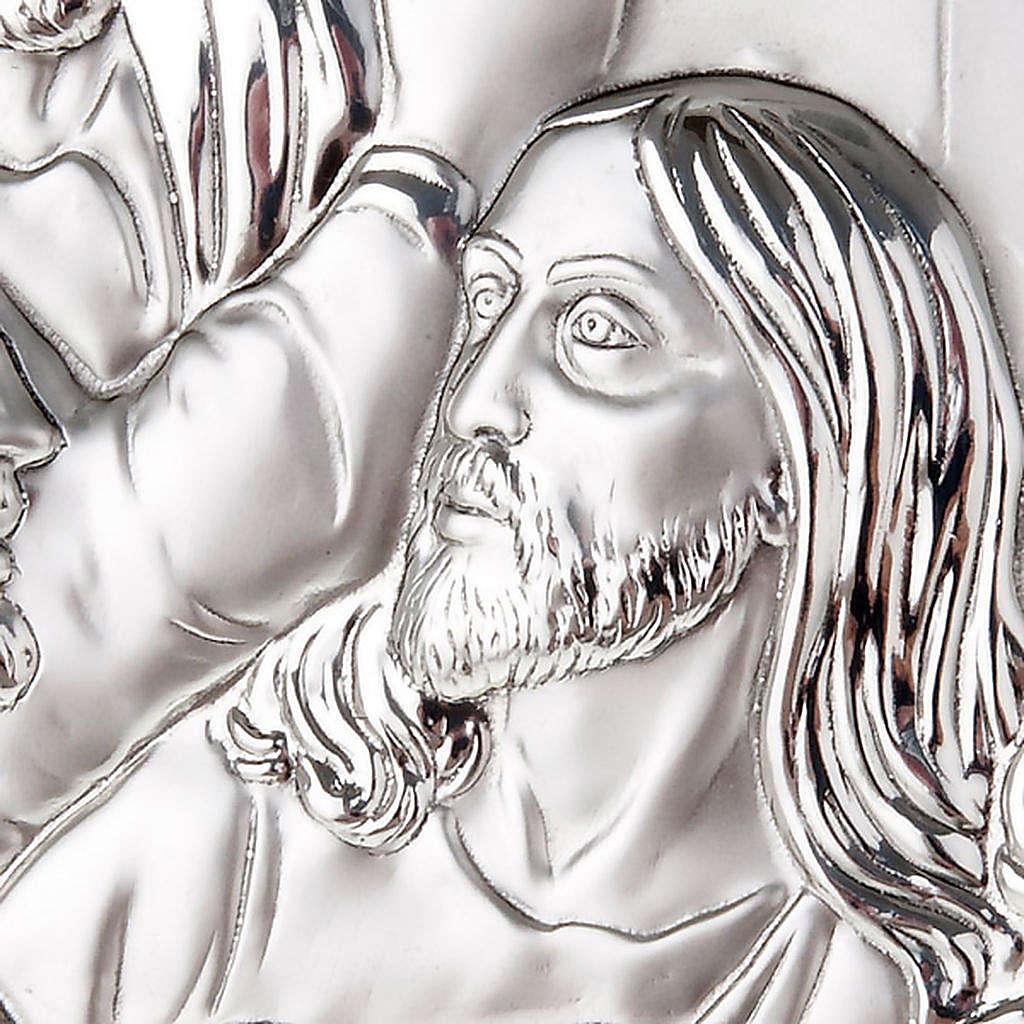 Bajorrelieve plata última cena de Leonardo perfilado 4