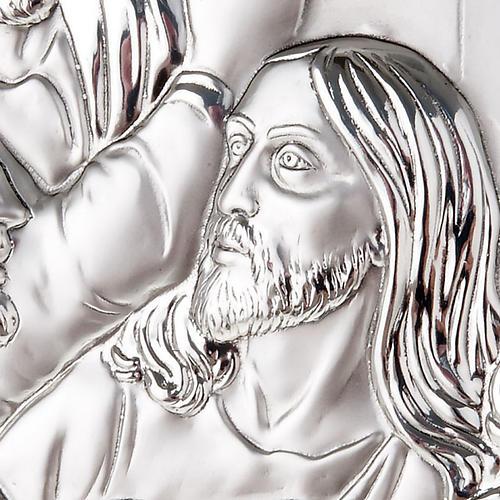 Bajorrelieve plata última cena de Leonardo perfilado 6