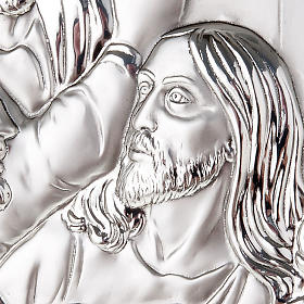 Baixo-relevo bilaminado Última Ceia Leonardo arredondado s6