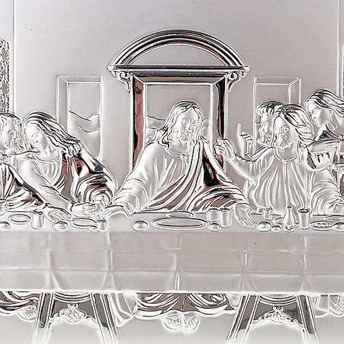 Silver profiled Bas Relief - Leonardo's Last Supper 3