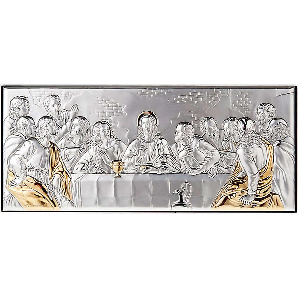 Leonardo's Last Supper bas relief gold/silver 4