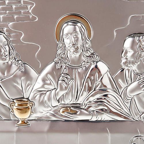 Leonardo's Last Supper bas relief gold/silver 5
