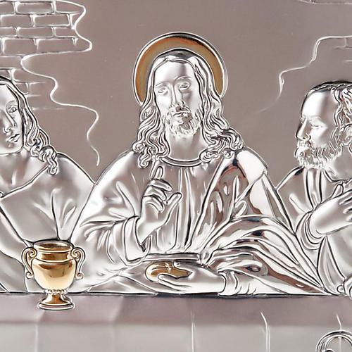 Bajorrelieve oro-plata última cena de Leonardo 5