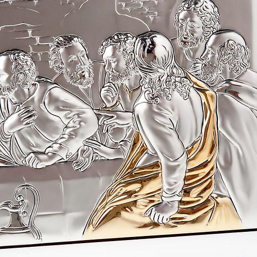 Leonardo's Last Supper bas relief gold/silver 3