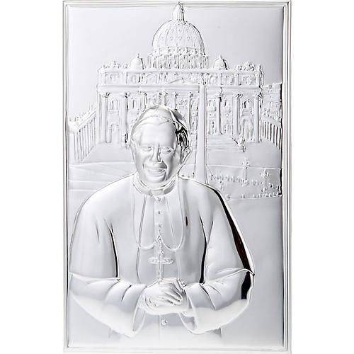 Bassorilievo bilaminato Benedetto XVI San Pietro 1