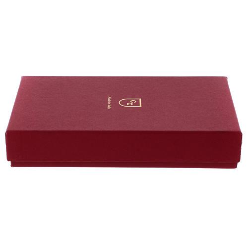 Bassorilievo Sacra Famiglia argento 925 oro cornice legno 6